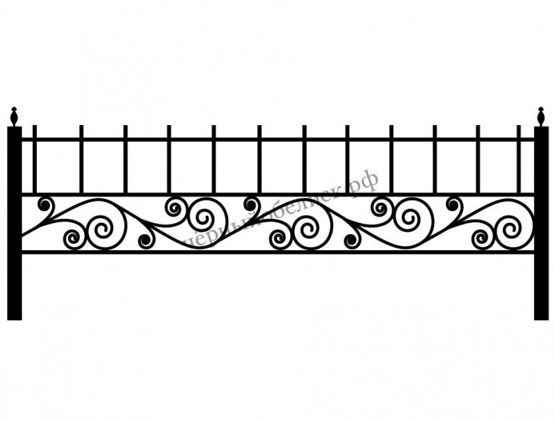 Ограда кованая К-210104