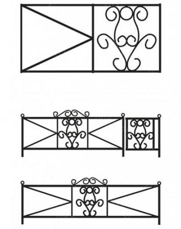 Ограда металлическая С-009