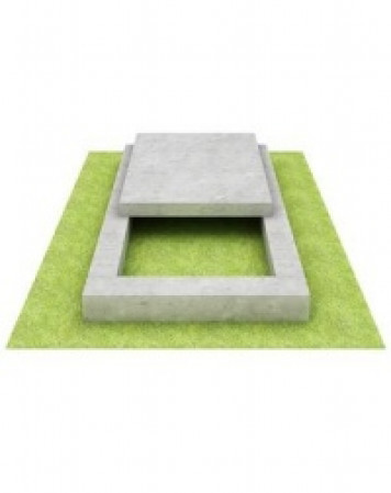 Цветник из мрамора с полуплитой 100х60х5/7 см; 50x50x4 см