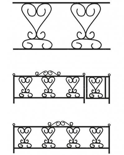 Ограда металлическая С-021 (4 рапорта)