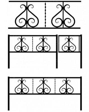 Ограда металлическая К-016