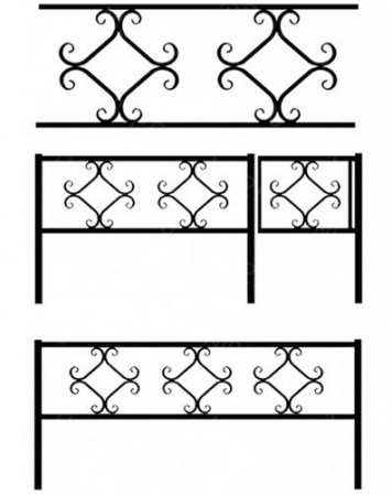 Ограда металлическая К-013
