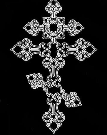 ажурный крест 1676