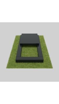 Цветник из гранита черного с полуплитой 100х60х7/8 см; 50x50x4 см