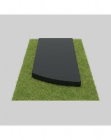 Плита гранитная скругленная 80х40х4 см