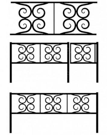Ограда металлическая К-019