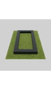 Цветник из гранита черного 4х сторонний 100х60х5/7 см