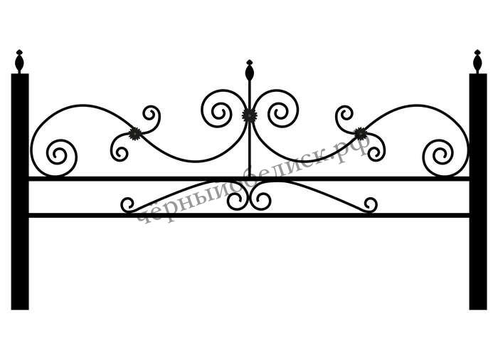 Ограда металлическая С-4401