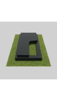 Цветник из гранита черного с вырезом на плите 100х60х5/7 см; 100x50x4 см