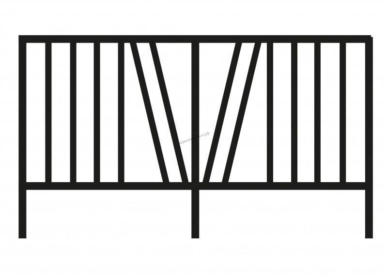 Ограда металлическая С-3301