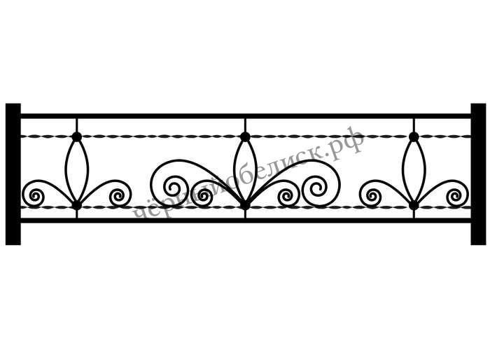 Ограда металлическая С-5501