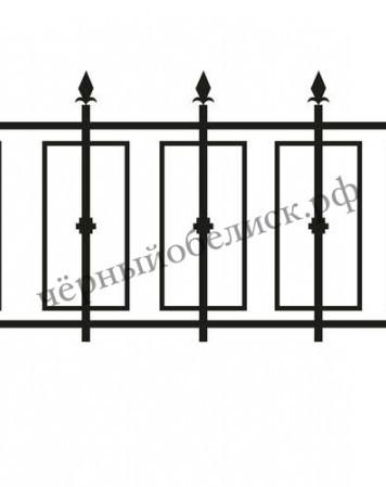 Ограда металлическая С-6601