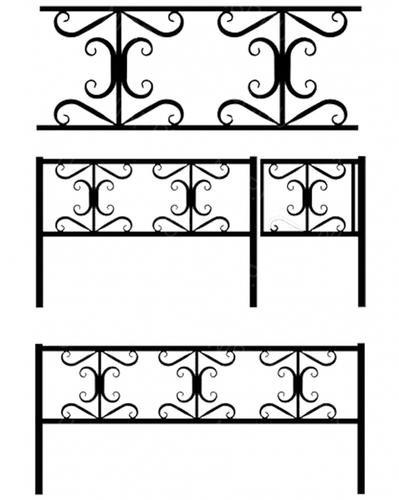 Ограда металлическая К-018