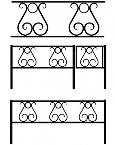 Ограда металлическая К-012
