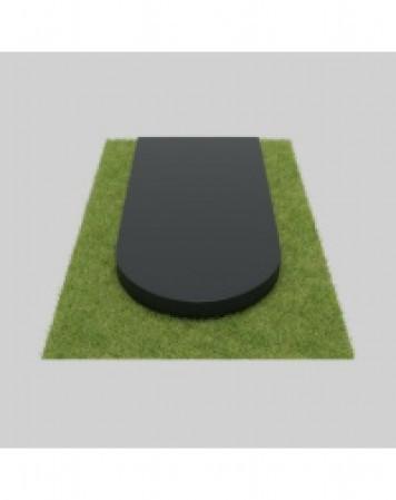 Плита гранитная закругленная 80х40х4 см